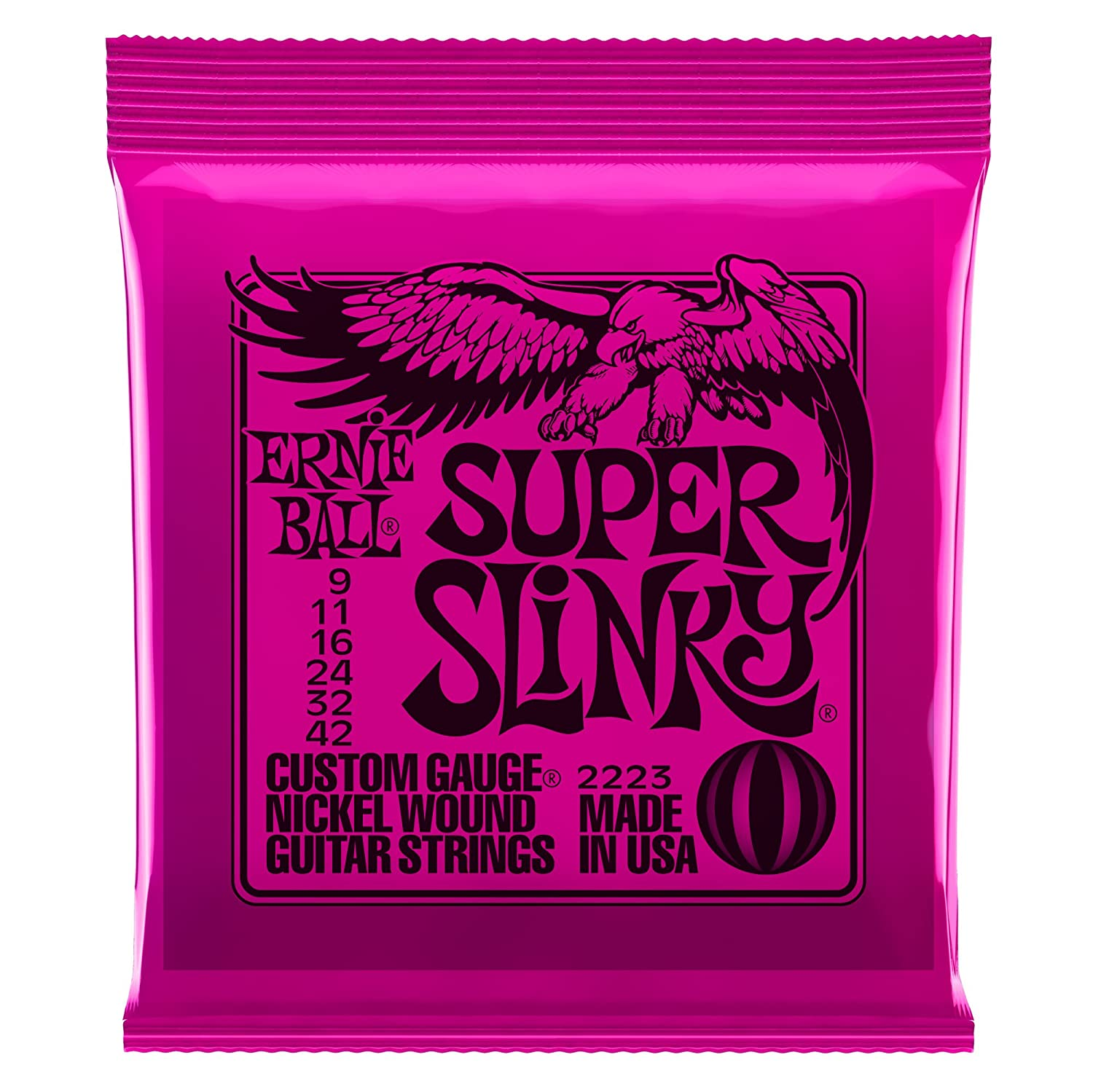 ernie ball super slinky nickel wound set 009 042