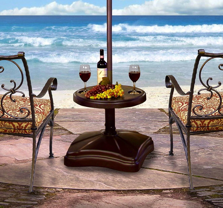 Amazon.com : Shademobile RU22 6250 Rolling Umbrella Stand And Accessory  Table, Bronze : Patio Umbrella Bases : Garden U0026 Outdoor