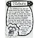 """Blue Mountain Arts Miniature Easel Print with Magnet """"Sisters"""" 4.9 x 3.6 in., Perfect Birthday, Christmas, or """"Just Because"""""""