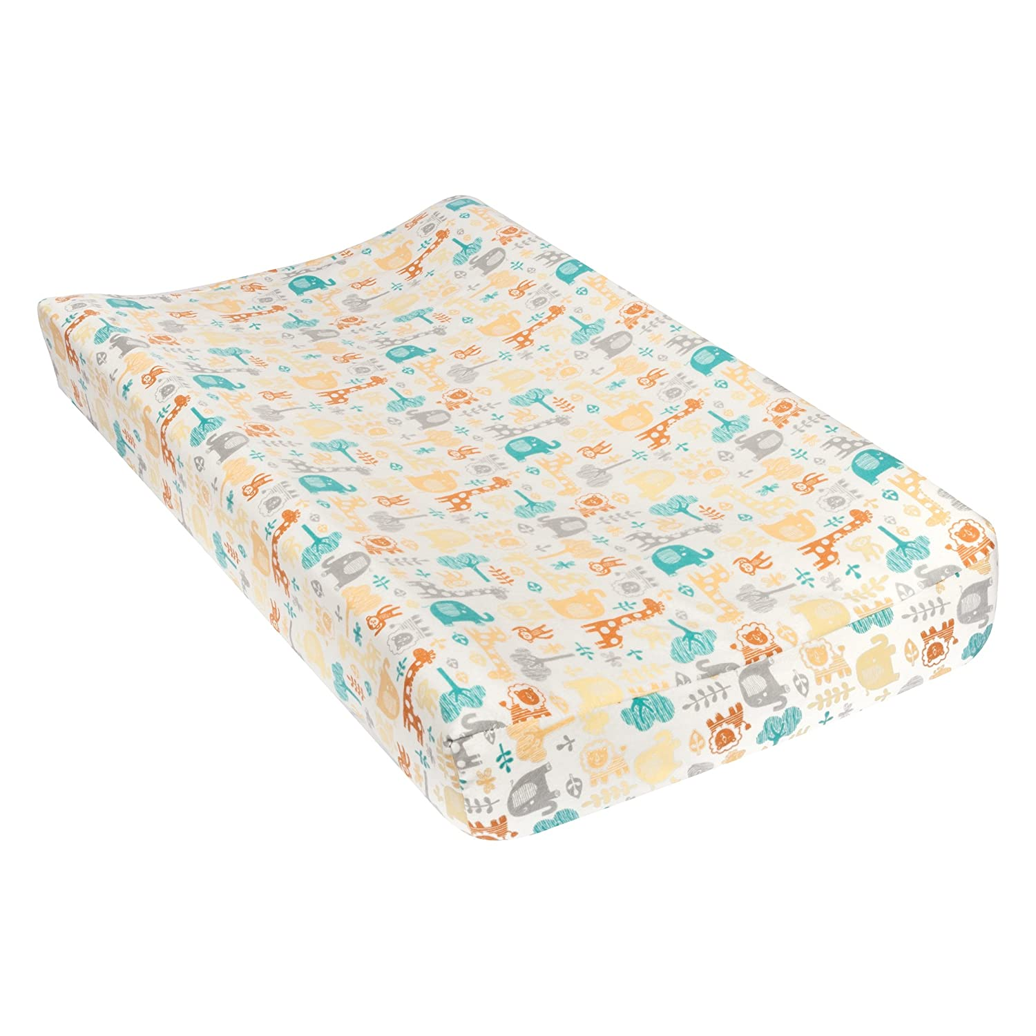 Trend Lab Lullaby Zoo Deluxe Flannel Changing Pad Cover 101617