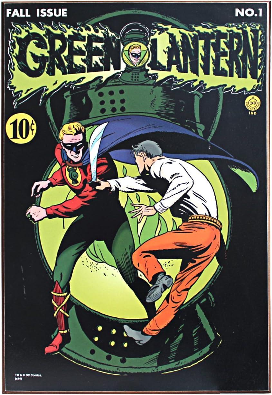 Silver Buffalo GL0236 DC Comics Silver Buffalo Green Lantern Volume Wood Wall Art, 13 by 19 inches