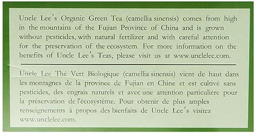 Amazon.com : Uncle Lee\'s Tea Organic Green Tea, 100-Count Box (Pack ...