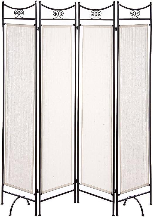 Nahuel Home - Biombo Forja Negro 4 Paneles 160 X 180 Cm: Amazon.es: Hogar