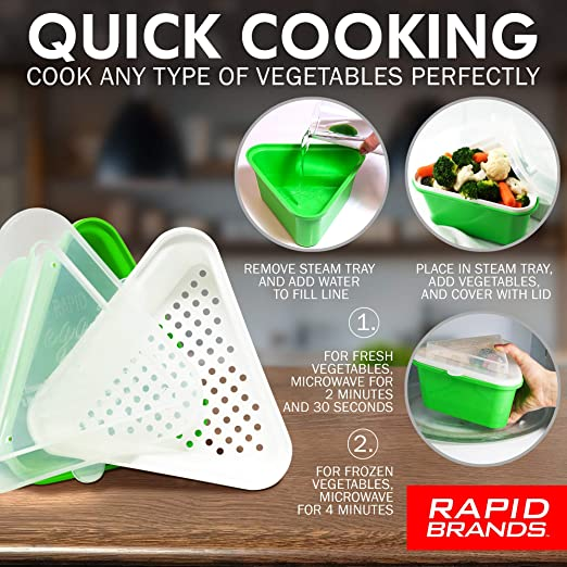 Details about  /NEW Rapid Brands Rapid Veggie Steamer FAST SAME DAY SHIPPING
