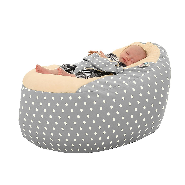 Astonishing Rucomfy Gaga Plus Baby And Toddler Bean Bag Grey Polka Dot Creativecarmelina Interior Chair Design Creativecarmelinacom