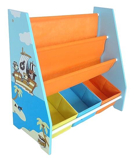 Kiddi Style Librería Infantil y Almacenaje Diseño Pirata - Madera par ninos