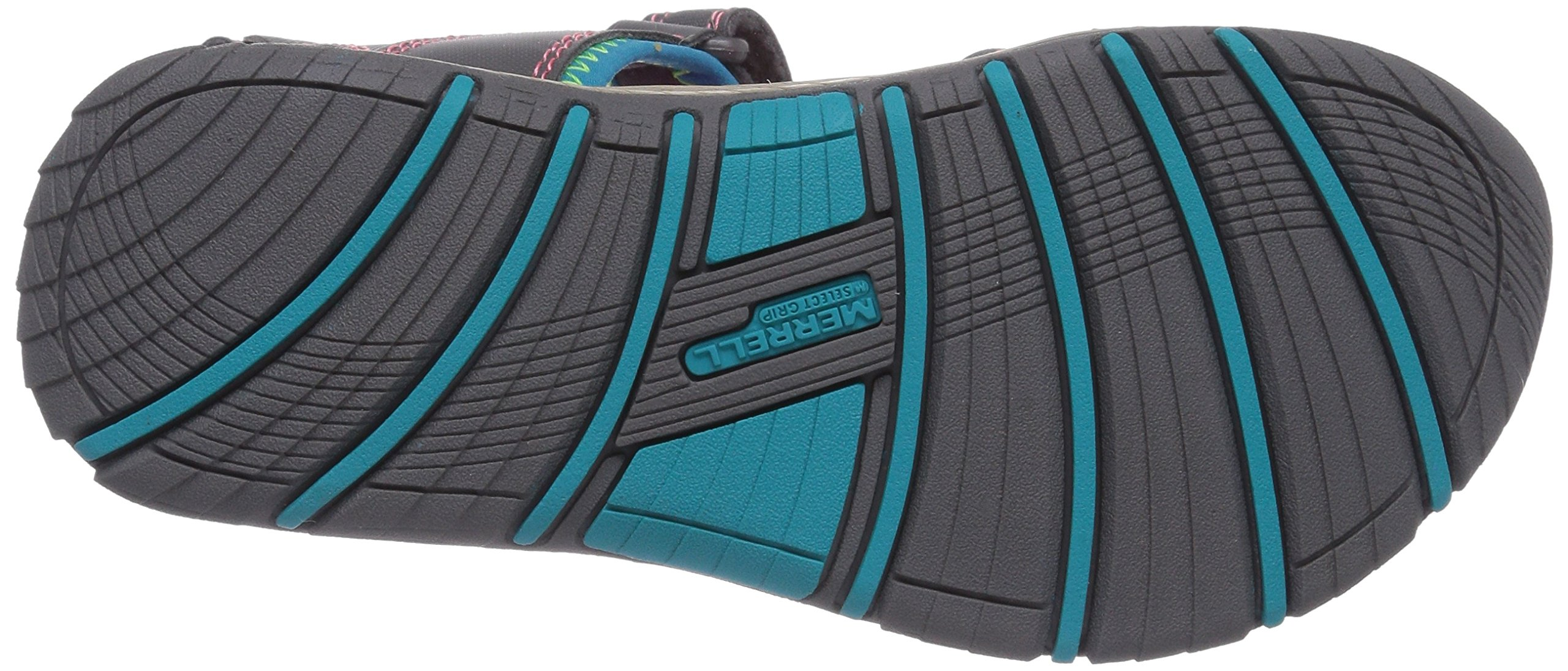 Merrell Panther Athletic Water Sandal , Blue/Pink/Green, 11 M US Little Kid by Merrell (Image #3)