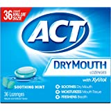 ACT Dry Mouth Lozenges Soothing Mint, 36 Count