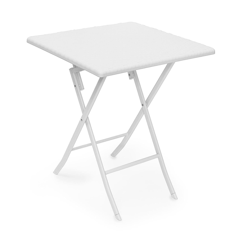 Gartentisch klappbar  Amazon.de: Relaxdays Gartentisch klappbar BASTIAN quadratisch H x B ...