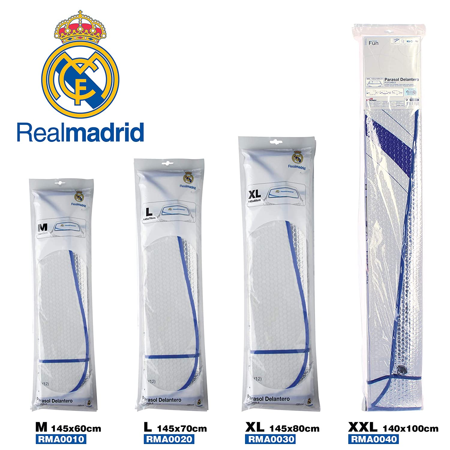 Sumex RMA0020 Front Sunshades 145X70 cm Real Madrid