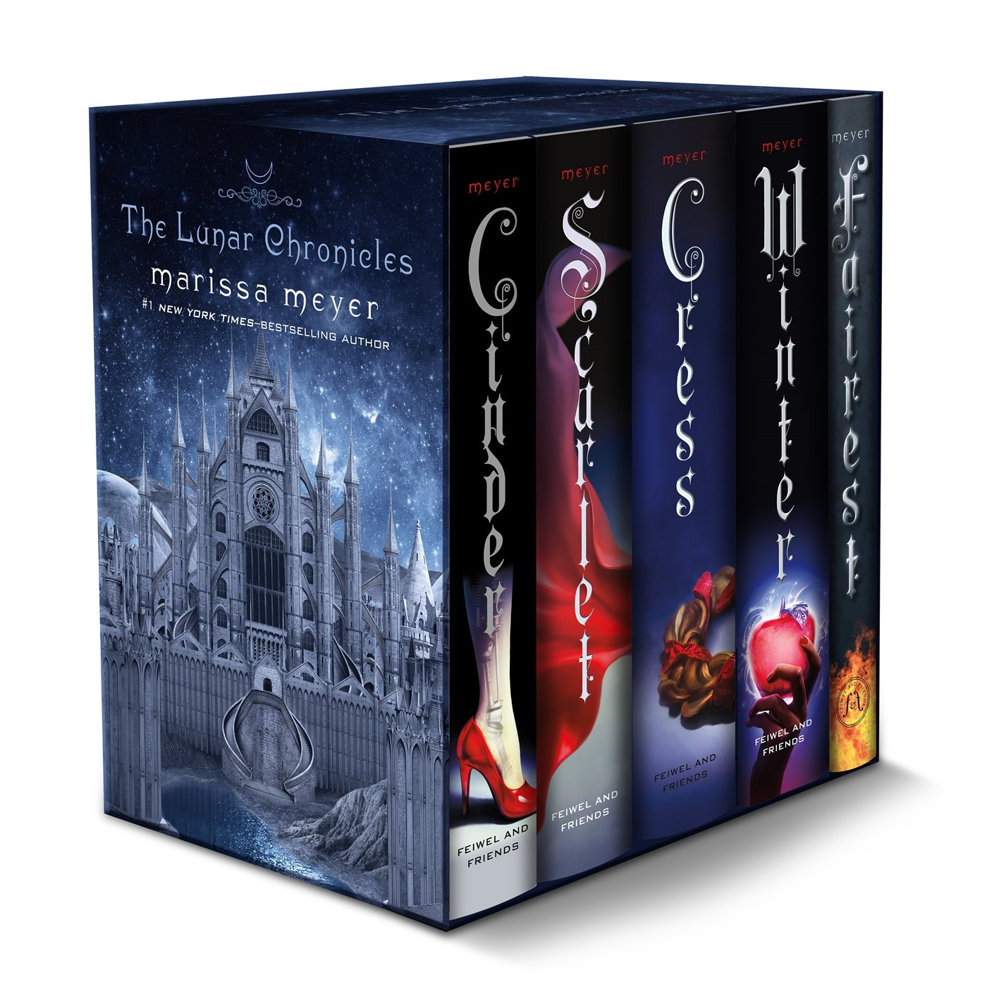 The Lunar Chronicles Boxed Set: Cinder, Scarlet, Cress, Fairest, Winter by Feiwel Friends