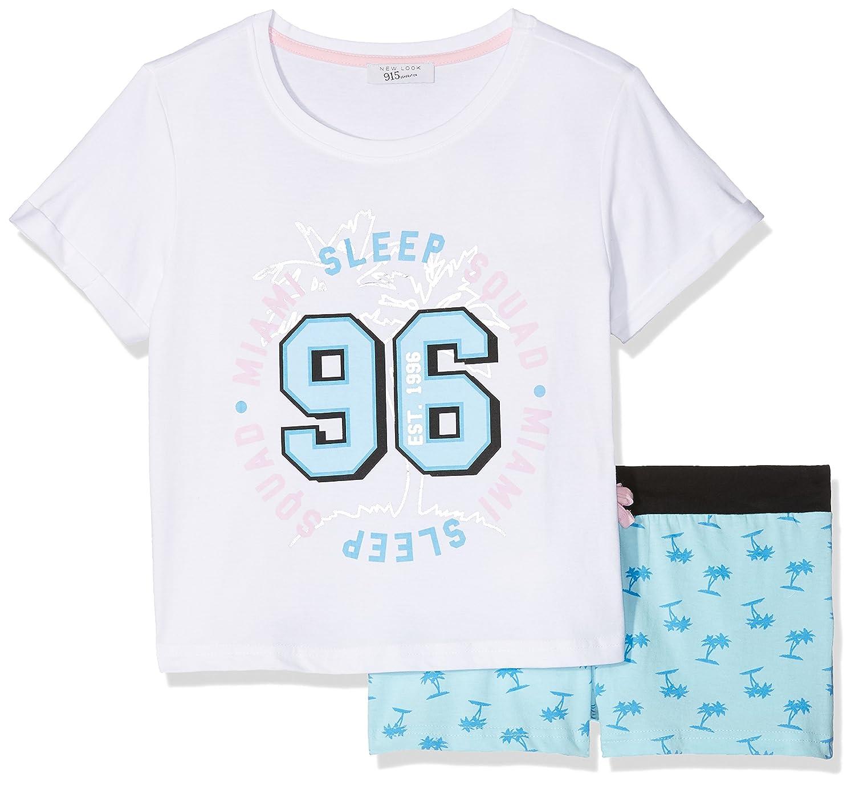 New Look Miami Palm Short, Conjuntos de Pijama para Niñas: Amazon.es: Ropa y accesorios