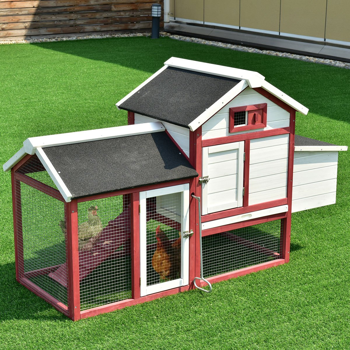 product high living chicken hutches combination with batten hutch and coops siding outdoor x board green area coop run acres