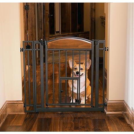 Design Studio Walk Thru Gate With Small Pet Door 3 Pack