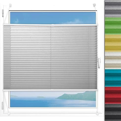 Plissee Rollo Magic   Moderner Sichtschutz Mit Crushed Optik   Fensterrollo  Mit Klemmfix Ohne Bohren  