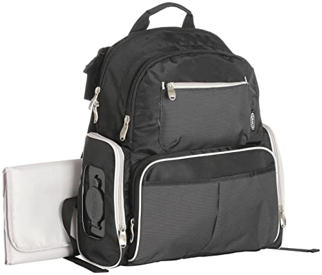 Graco Gotham Smart organizador sistema mochila bolsa de pañales, Negro/Gris