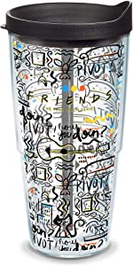 Tervis Warner Brothers - Friends Pattern Insulated Tumbler, 24oz, Clear - Tritan
