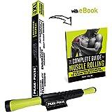 Roller per il Massaggio Muscolare + FREE EBOOK - Attrezzo XL per Terapia in Casa per il rilascio miofasciale e il miglioramento muscolare.