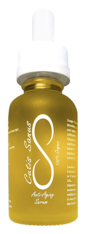 100% Organic Anti Aging Face Oil Serum Moisturizer - Premium 1 oz. By Cutis Sanus – Natural Advanced Skin Care With Vitamins C, B, A & E – For Wrinkle & Fine Line Reduction, Sun Spots, Dark Circles