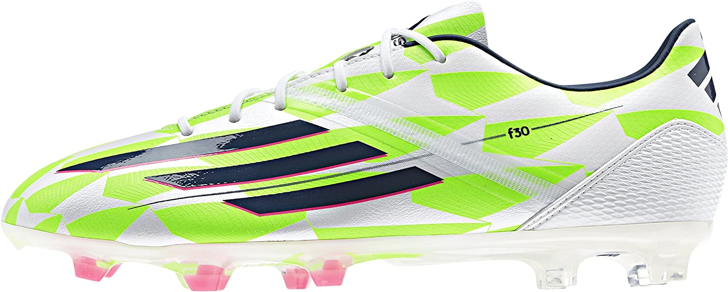 adidas F30 TRX FG, Bota de fútbol, Core White-Rich Blue-Solar Green, Talla 10.5 UK (45 1/3 EU): Amazon.es: Zapatos y complementos
