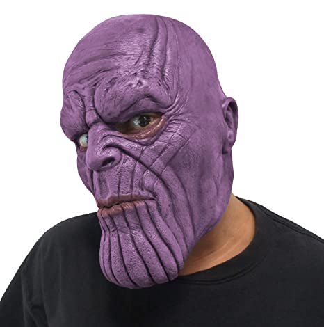 Action & Toy Figures 2019 Fashion Avengers Infinity War Thanos Mask Toy Halloween Cosplay Party Latex Thanos Helmet New Collection Models Birthday Gift