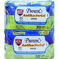 Pureen Antibacterial Hygiene Wipes Value Pack (8 Packs, 30 Wipes/Pack),
