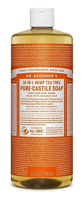 6fc1cb45ca9be2 Amazon.com : Dr. Bronner's Pure-Castile Liquid Soap - Tea Tree 32oz ...
