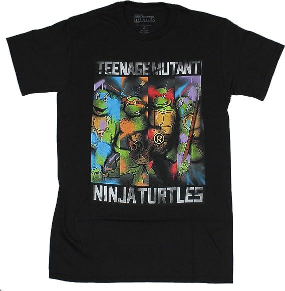 Hybrid Teenage Mutant Ninja Turtle Classic Graffiti Mens T Shirt