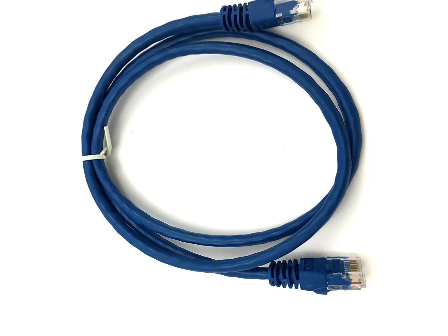 Xavier Cat5bl 25 Cat5e Ethernet Patch Cable Molded Cables Red Snagless Boot 7 Foot Boots Internet Blue Computers Accessories