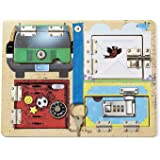 Melissa & Doug 19540 Lock and Latch Board With 3 Pretend Keys For Extra Fun