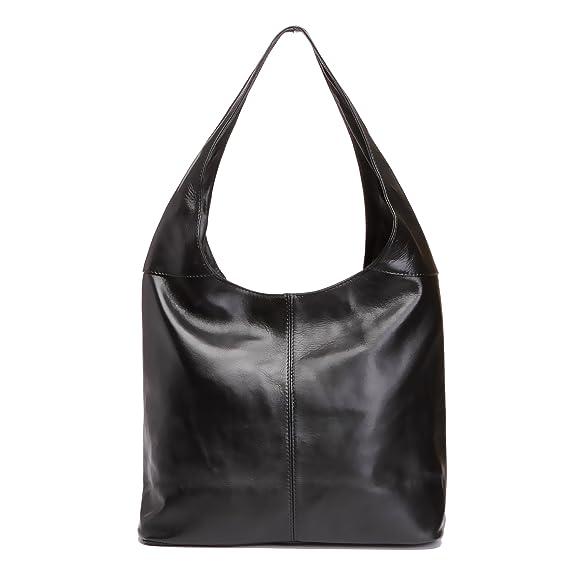Amazon.com  LaGaksta Italian Leather Hobo Bag Black  Shoes 3f97fcb26141d