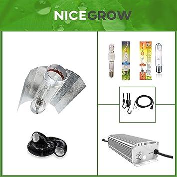 400 Watt Beleuchtung Komplettset Blüte /& Wachstum Grow NDL MH 400 Watt Set