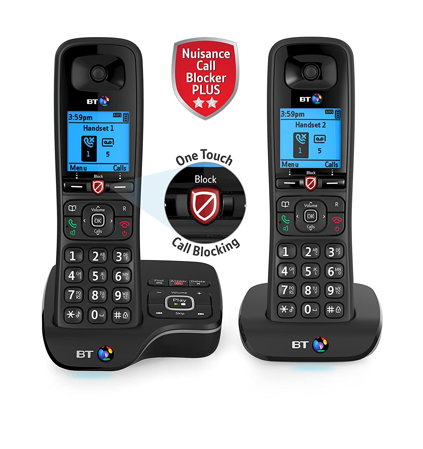 Bt 6600 Nuisance Call Blocker Cordless Home Phone With: Amazon:  Electronics
