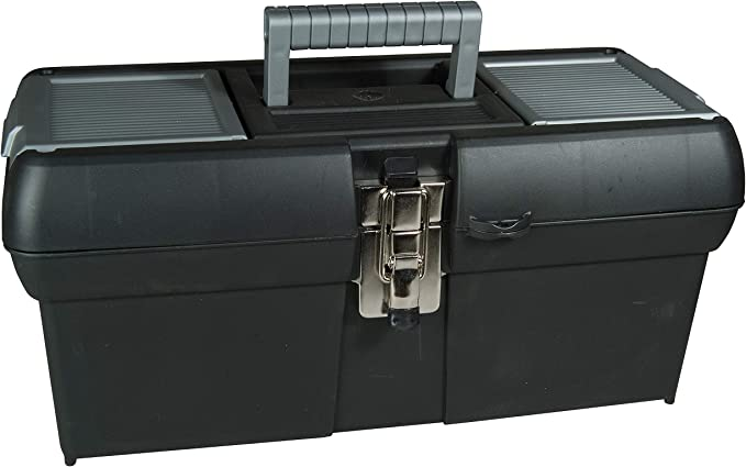 """WNB 18"""" Inch Tool Box With inner Tray 3 Organisers in Lid 45cm Lockable Builders"""
