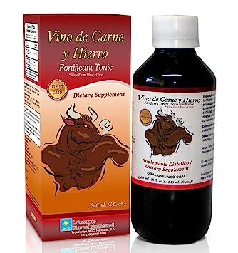 Vino de Carne y Hierro. Fortificant Tonic, Dietary Supplement / Tonico Fortificante, Suplemento