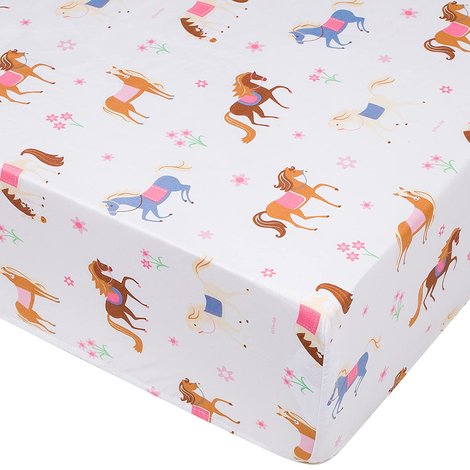 Wildkin Fitted Crib Sheet for Infant and Toddler Boys and Girls, Soft, Breathable Microfiber Fabric, Includes One Fitted Crib Sheet Measuring 52 x 28 Inches, Designed to Fit a Standard Crib Mattress