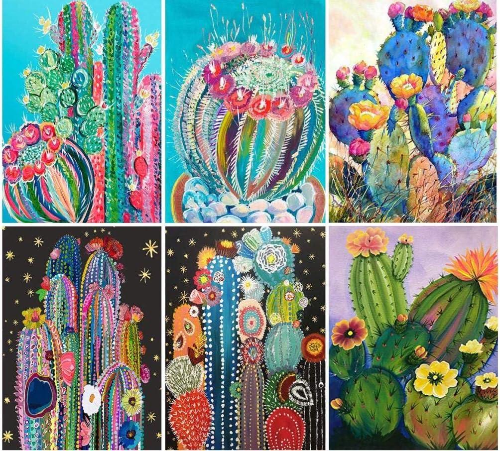 5D Pintura por Diamante x6 (30x40cm) Cactus