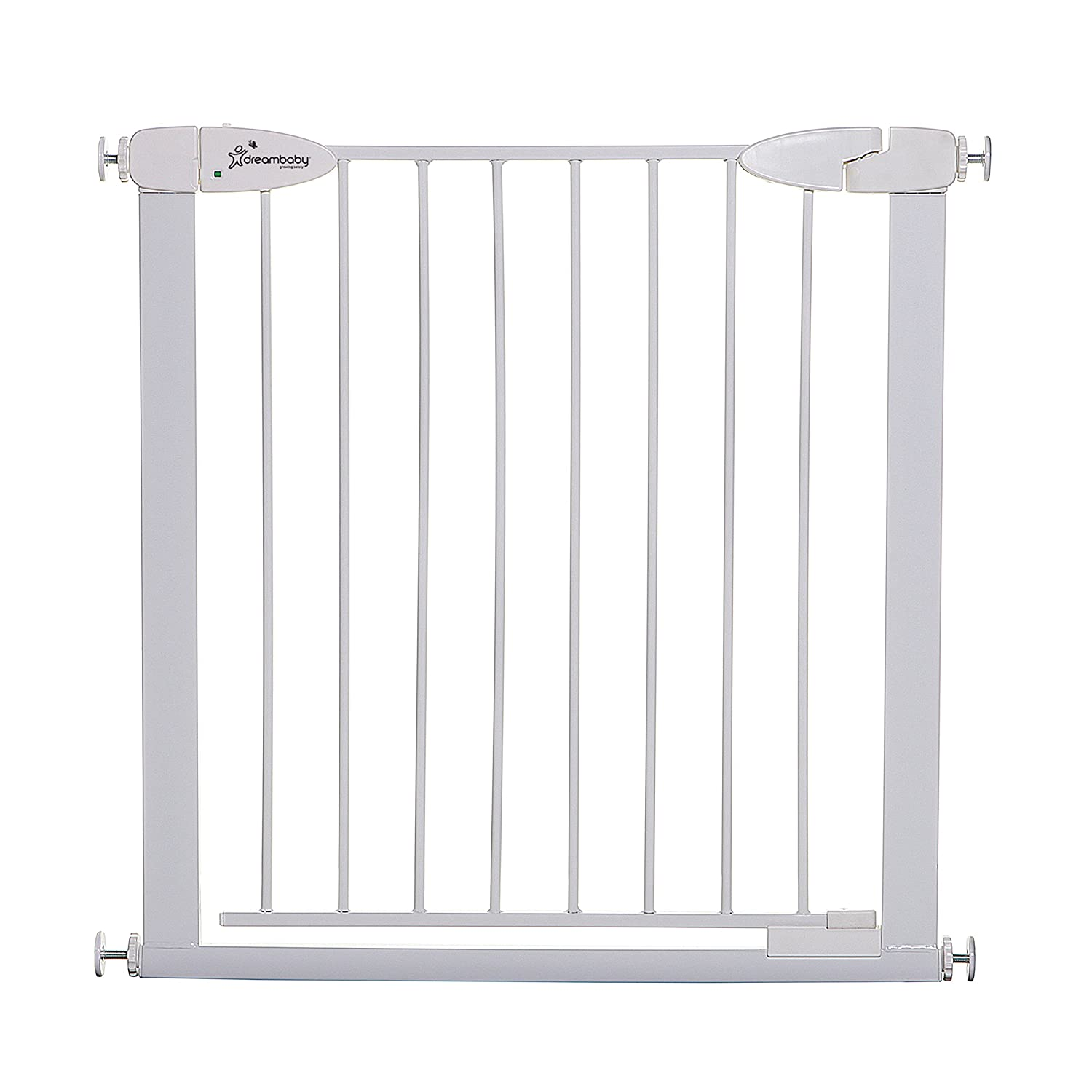Dreambaby Boston Magnetic Auto Close Security Gate w/Stay Open Feature (29.5-32.5 inches, White)