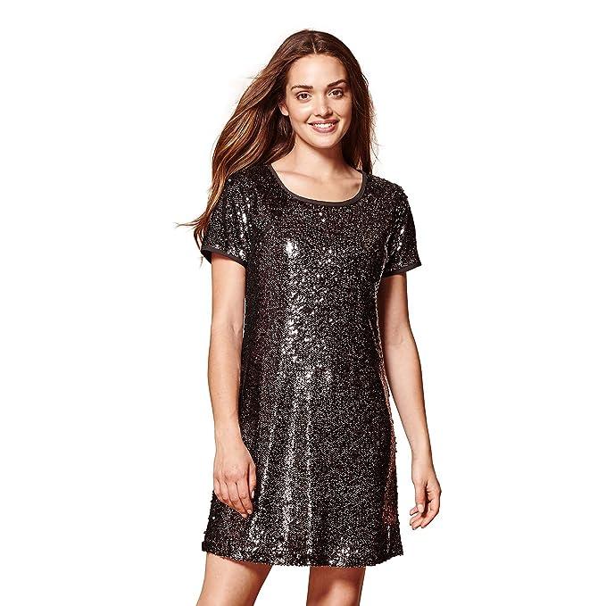 b0e91337afd YUMI Sequin Embellished Party Tunic Black  Amazon.co.uk  Clothing
