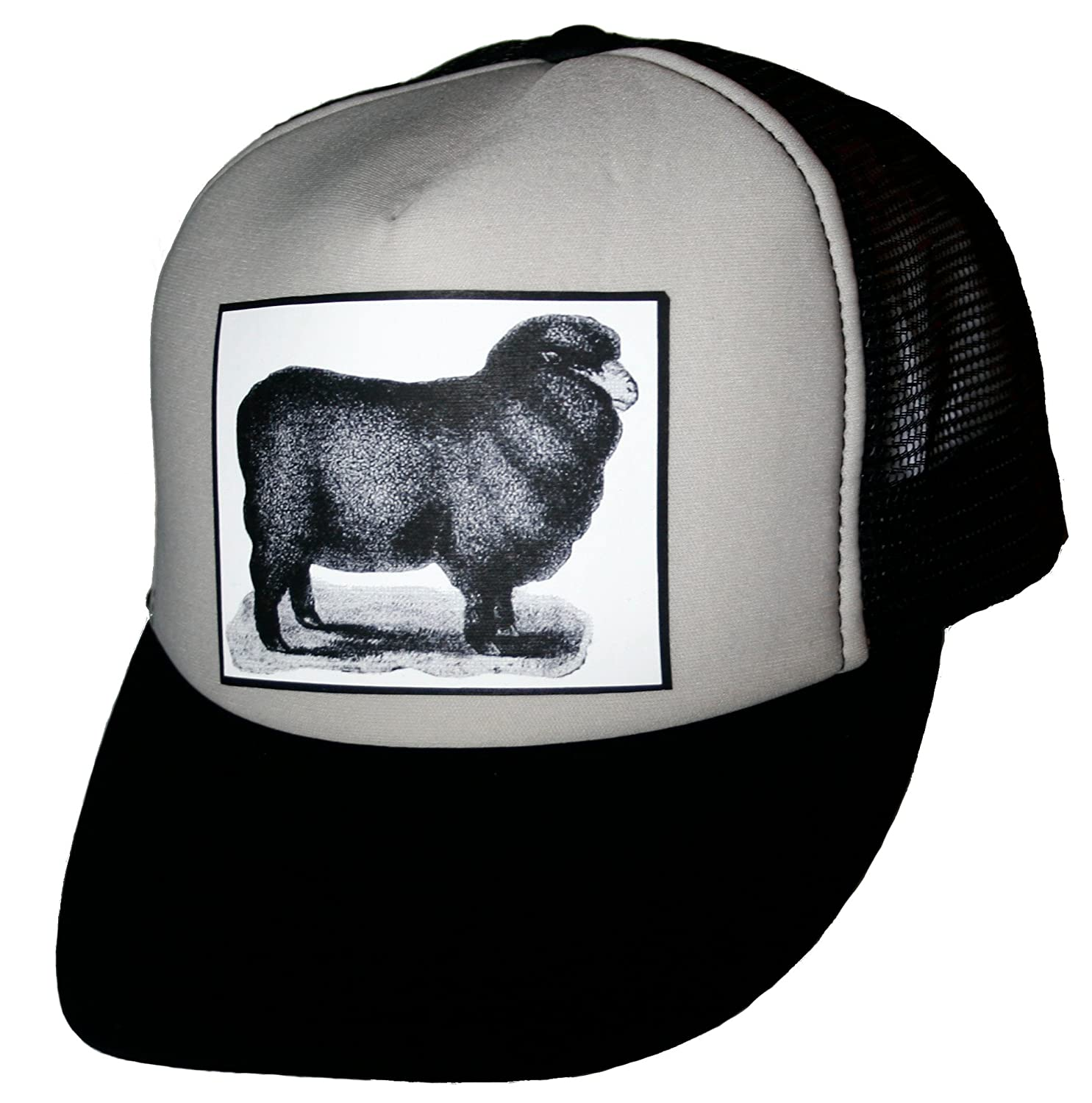 06975d4e48ea8 Heads Up Black Sheep Trucker Hat at Amazon Men s Clothing store