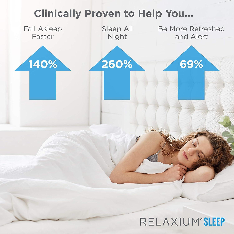 Relaxium Natural Sleep Aid   Non-Habit Forming   Sleep Supplement for Longer Sleep & Stress Relief w/Magnesium, Melatonin, GABA, Chamomile, Valerian (60 Vegan Capsules, 30 Day Supply): Health & Personal Care