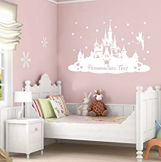 TheStickerStop U2013 Disney Princess Castle U2013 PERSONALISED   Childrens Bedroom Wall  Sticker   Wall Art ( Part 34