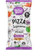 Human Bean - Faba Beans (Fava Beans) Vegan Friendly, Nut Free, Dairy Free & Gluten free Snacks - 12 x 20g (Pizza supreme)