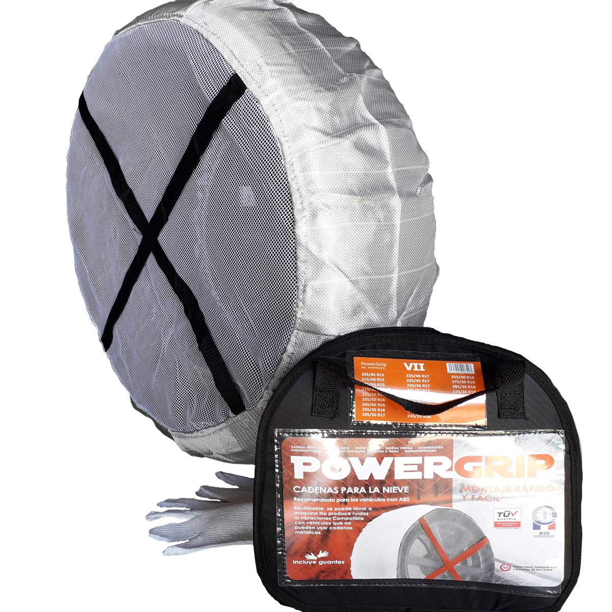 Cadena textil PowerGrip talla XIII