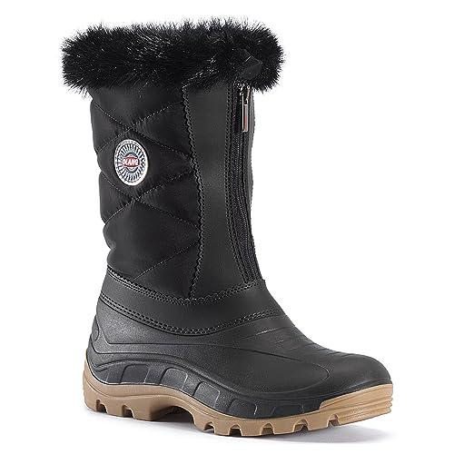 Olang Botas de nieve mujer, color negro, talla 34.5