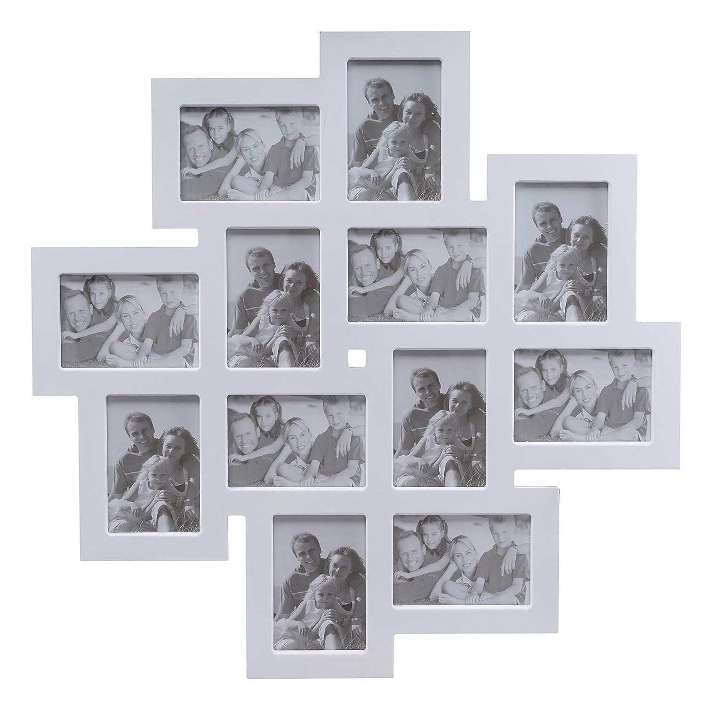 Amazon.de: elbmöbel Bilderrahmen Collage Fotorahmen groß in weiß aus ...