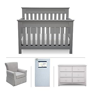 Delta Children Chalet 4 Piece Mix U0026 Match Nursery Furniture Set  (Convertible Crib,