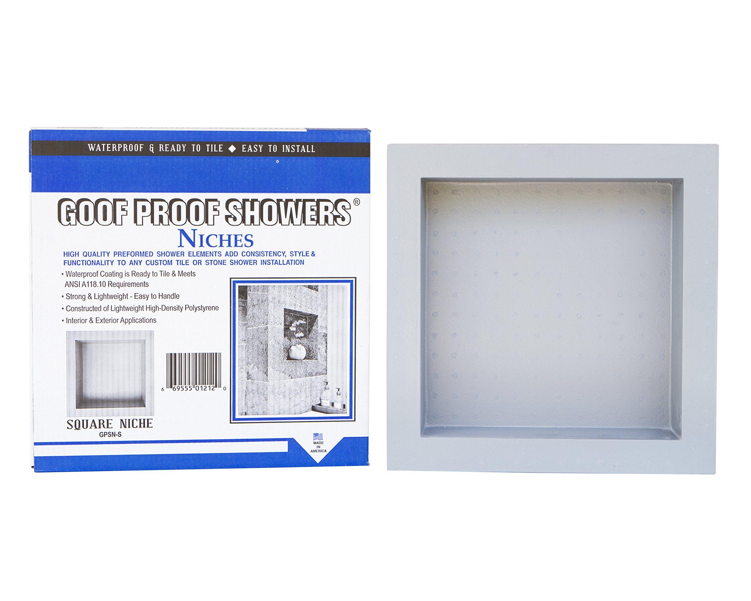 GOOF Proof Shower GPSN-S S Shower Niche, White