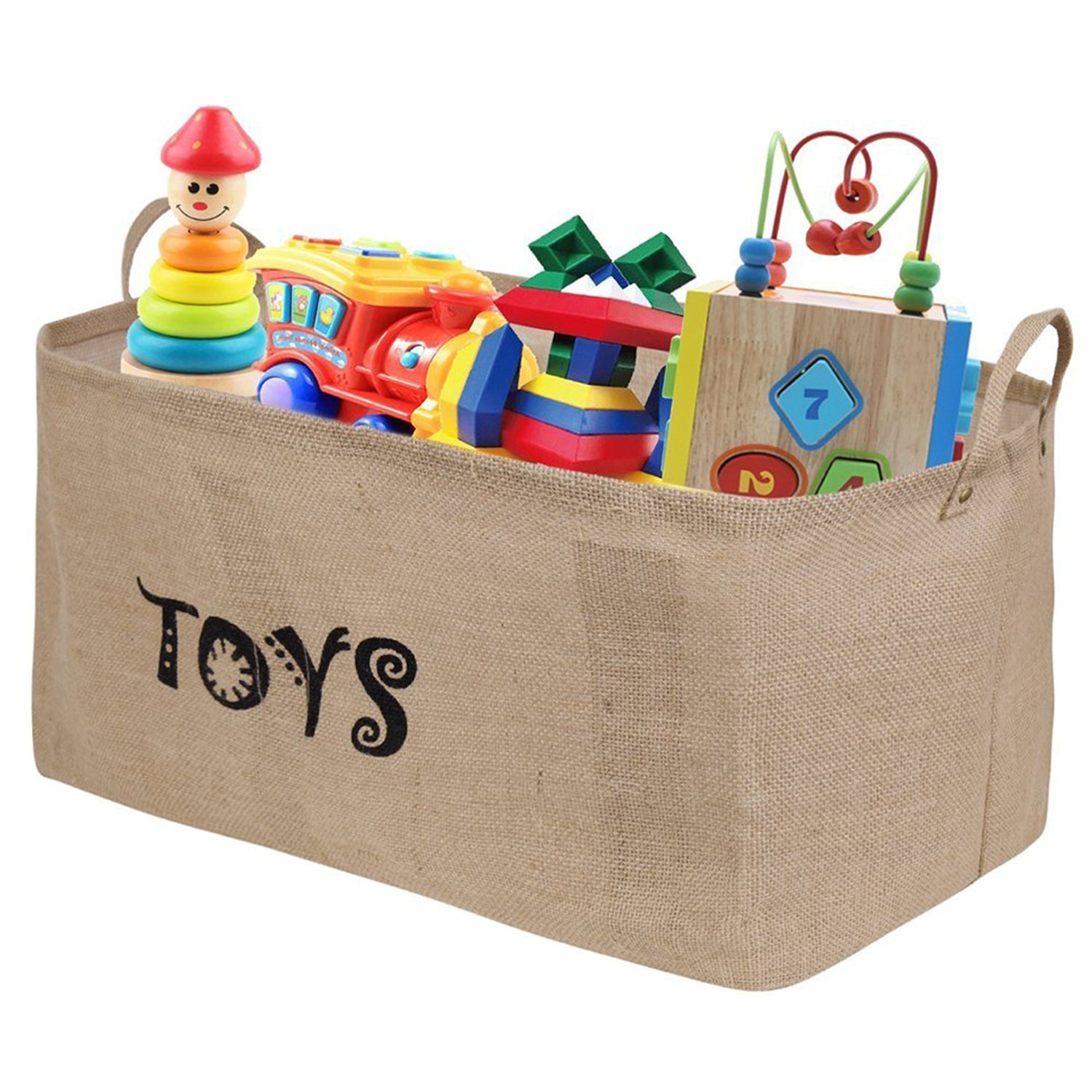 "Amazon.com: Ilyever XXL 22"" Jute Toy Chest Baskets Storage Bins ..."