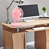 Efinito 8 Inch Portable Usb Rechargeable Rotating 3 Speed Fan - Colors May Vary